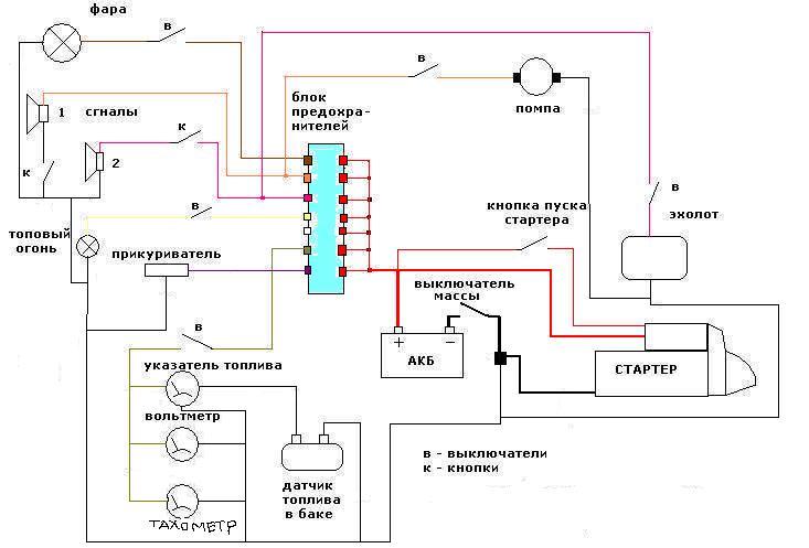 Схема электропитания для яхты